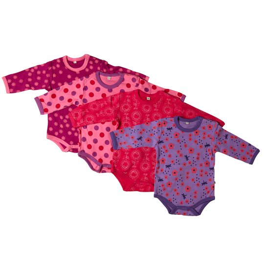 Pippi Body 4-Pack Pink 50