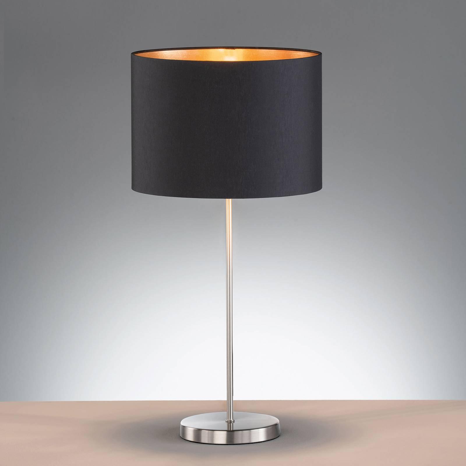Bordlampe Loft med tekstilskjerm, svart