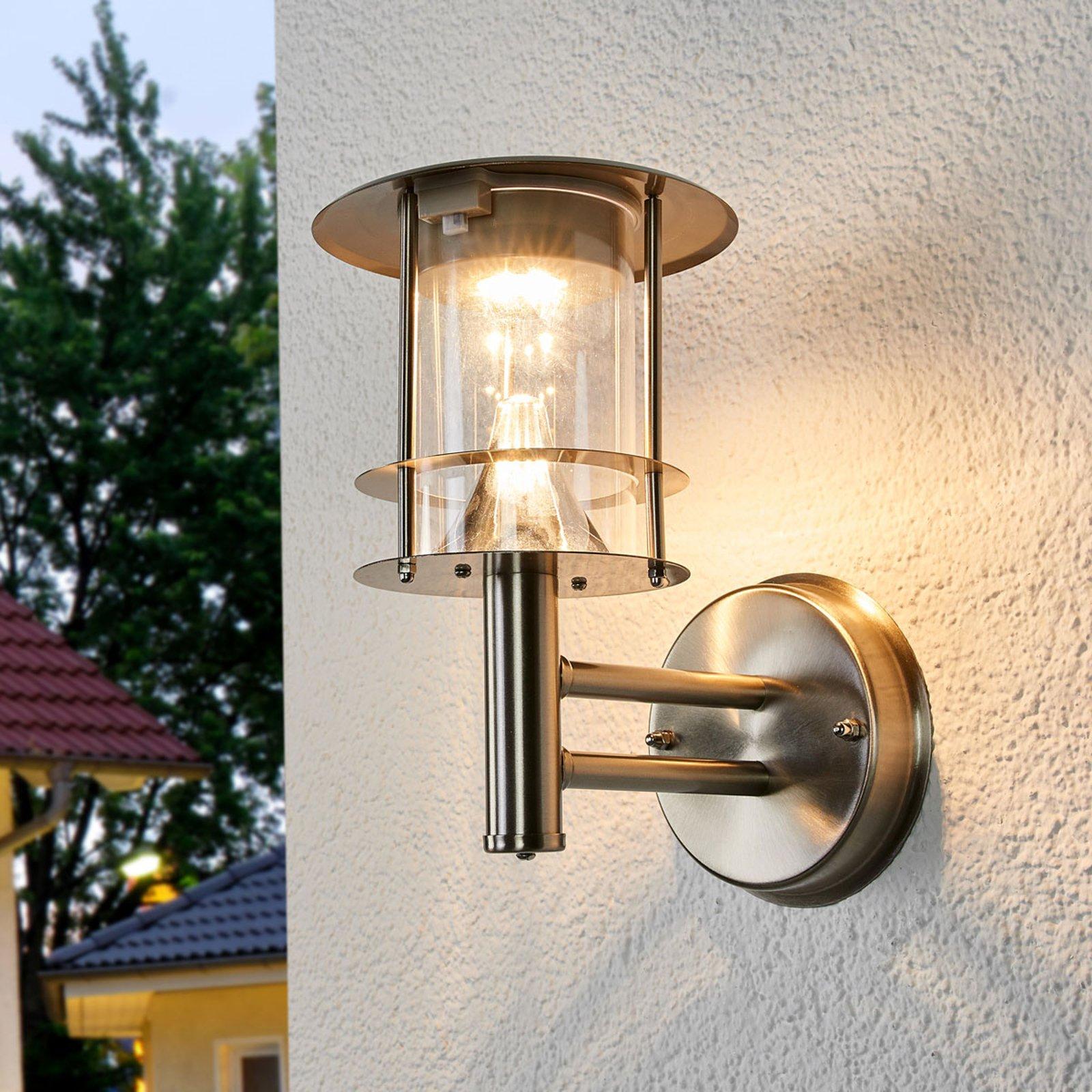 Solcelledrevet, utendørs LED-vegglampe Sumaya