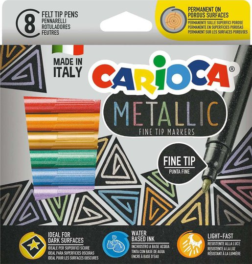 Carioca Metallic Fineliners