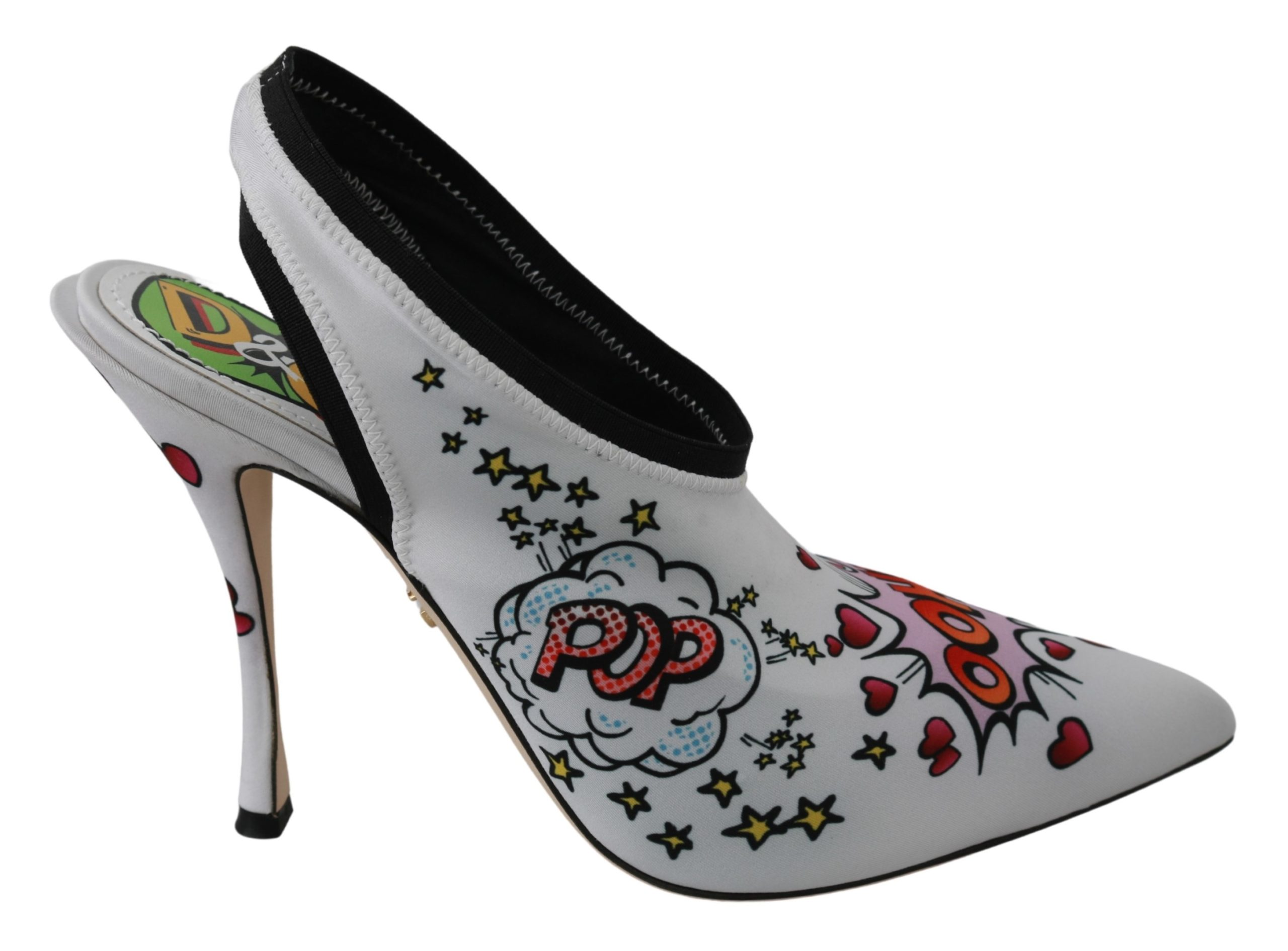 Dolce & Gabbana Women's Neoprene Stretch Pumps Shoes White LA6476 - EU35/US4.5