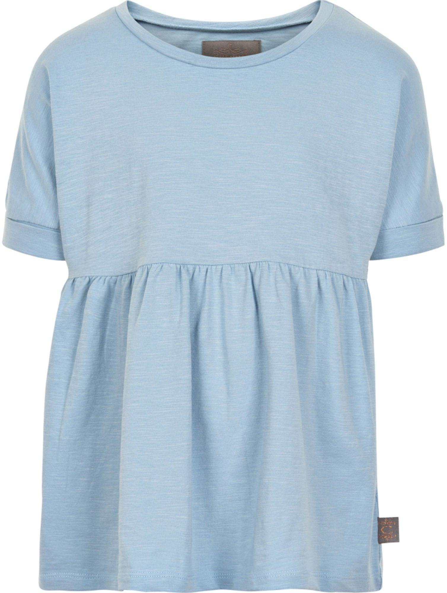 Creamie Slub Jersey T-Shirt, Blue Fog 128