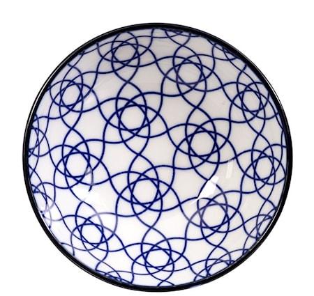 Nippon Blue Dish Stripe 9.5x3 cm
