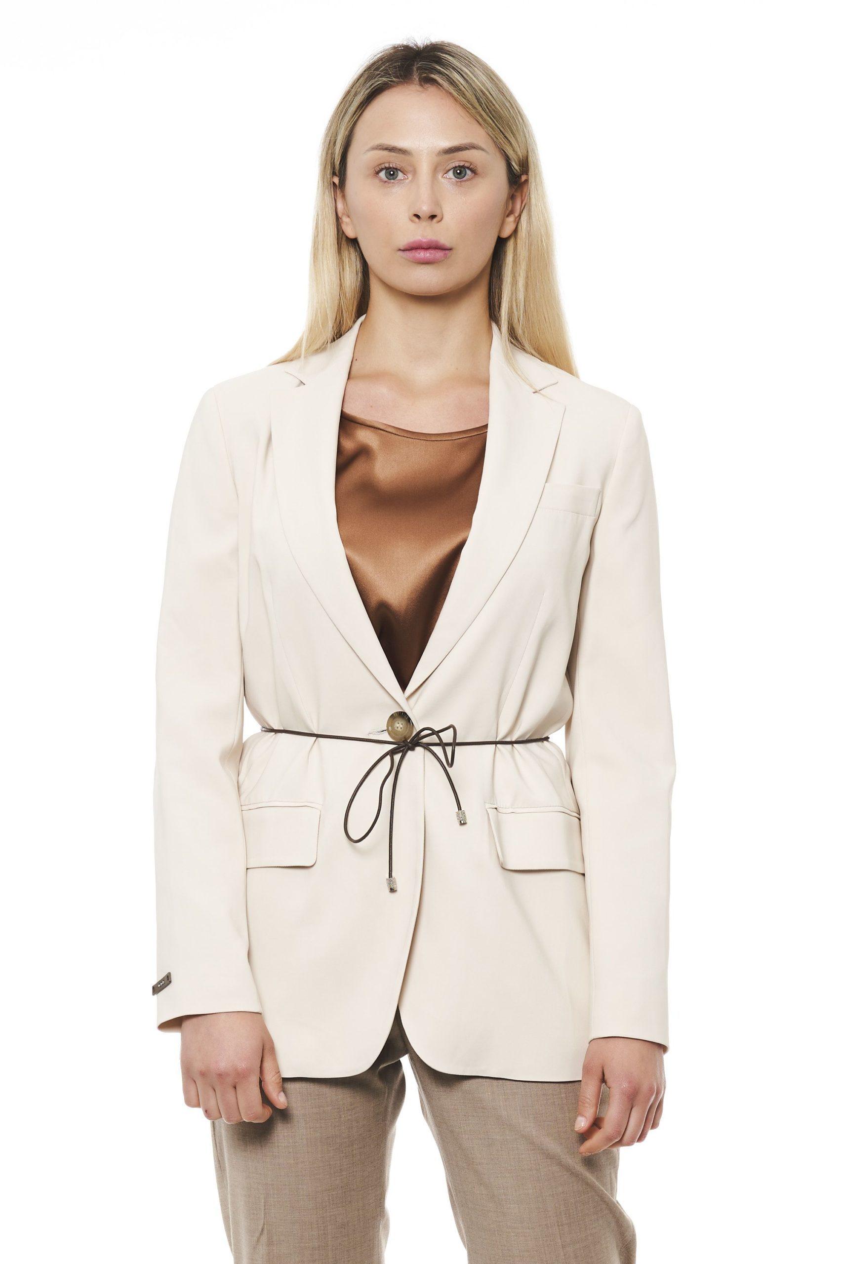 Peserico Women's Jacket Beige PE1426930 - IT42 | S