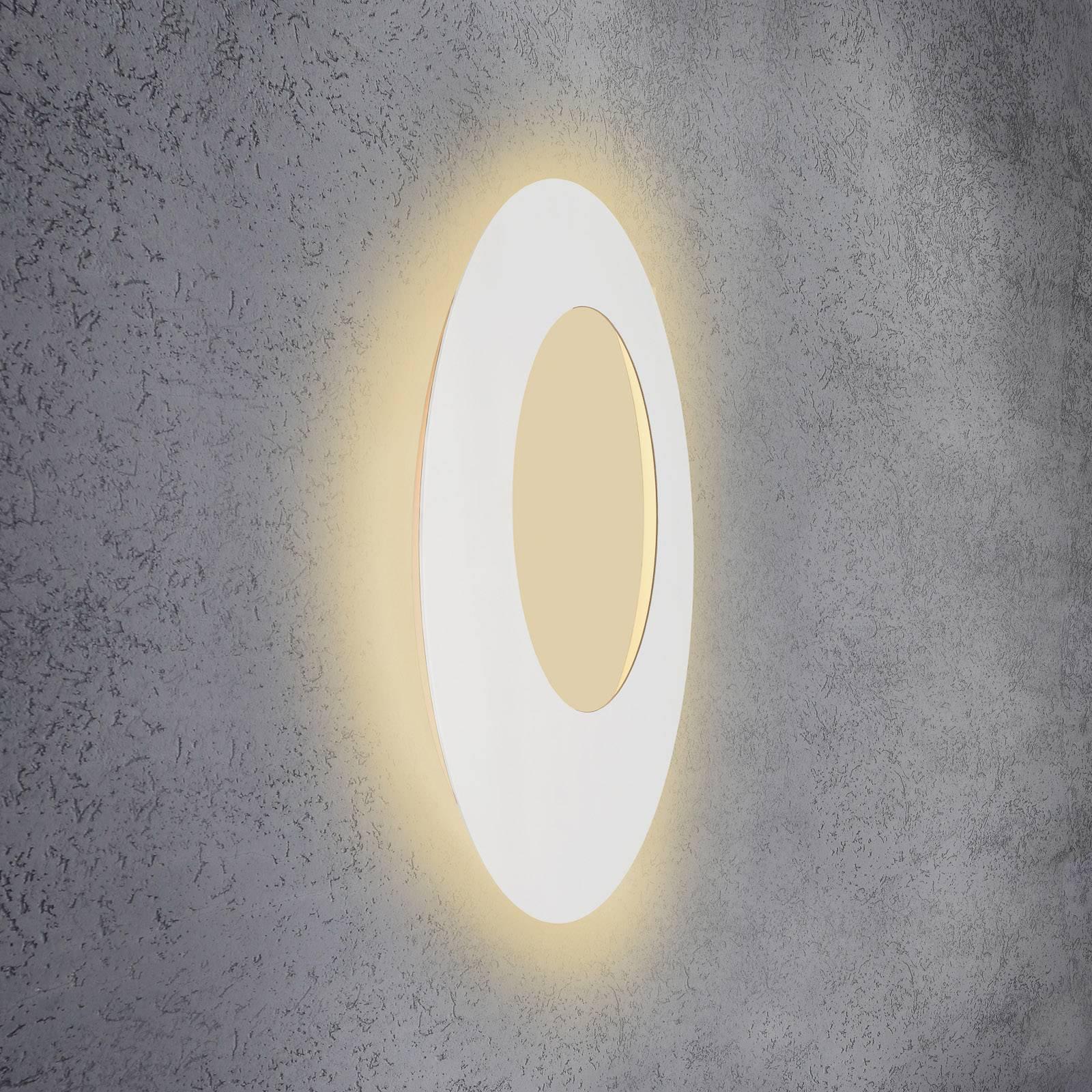 Escale Blade Open LED-vegglampe, hvit, Ø 79 cm