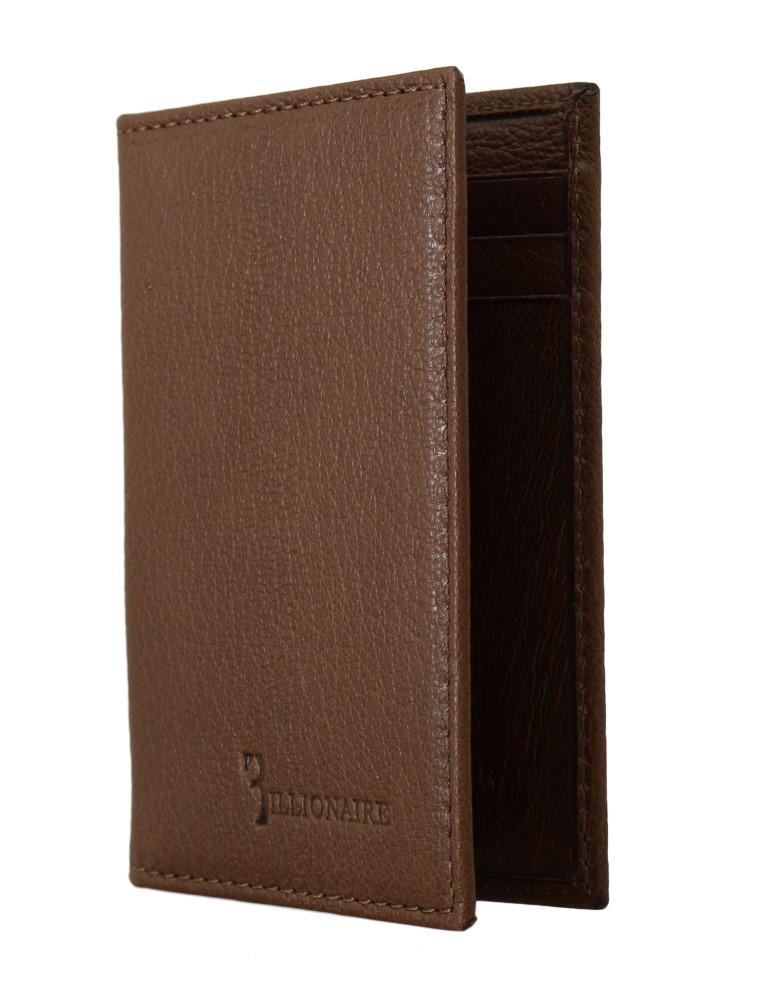 Billionaire Italian Couture Men's Leather Bifold Wallet Brown VAS1441