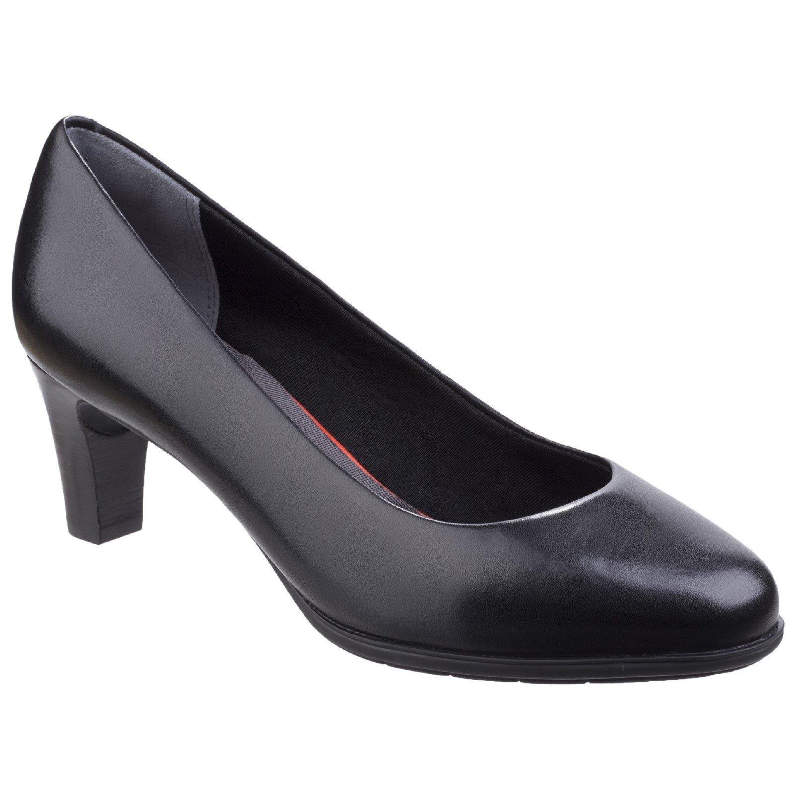 Rockport Women's Melora Plain Pump Shoe Various Colours 26349 - Black Leather 6