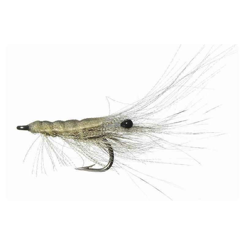 Organza Shrimp White # 10 Kjøp 12 fluer få gratis flueboks