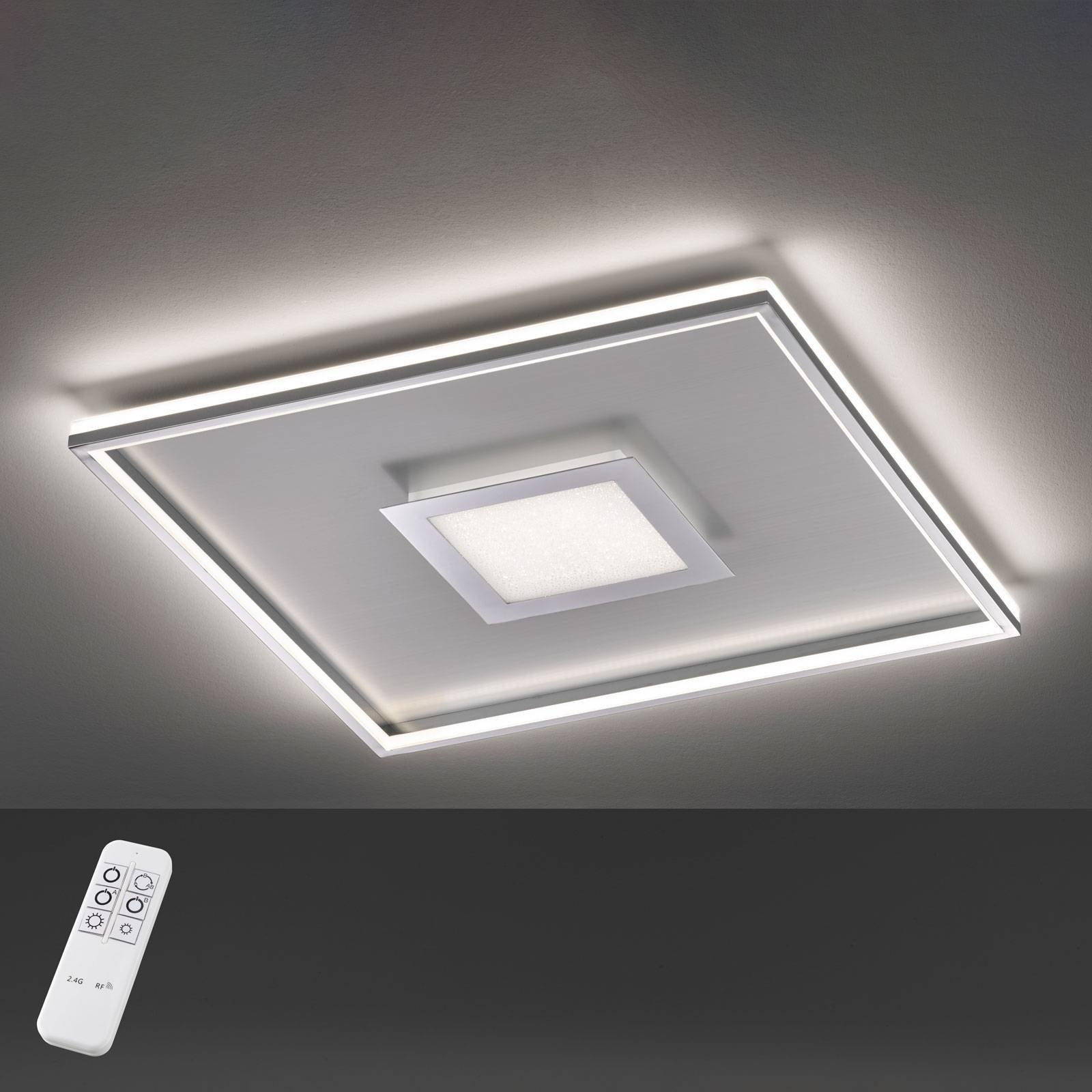 LED-taklampe Bug kvadratisk, krom 60x60 cm
