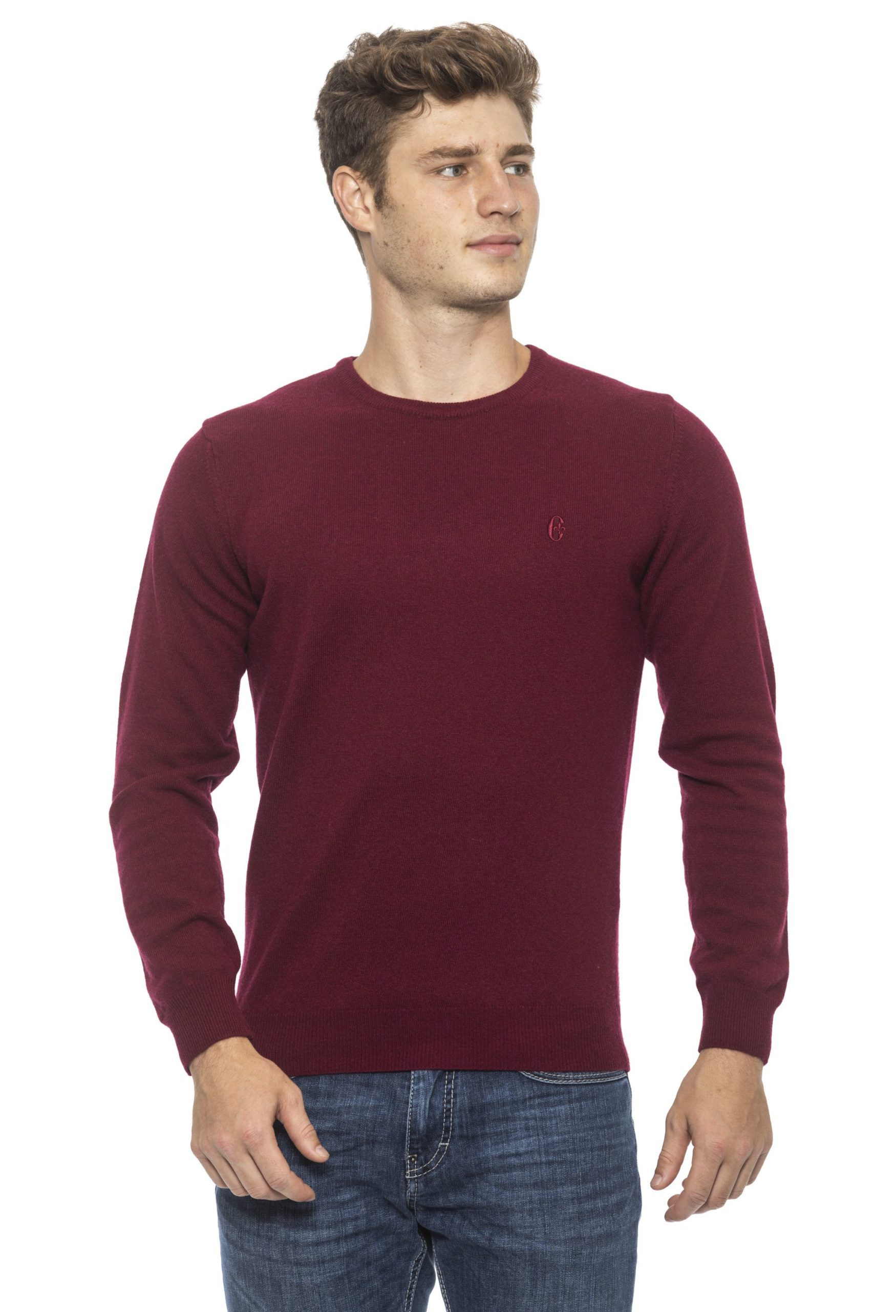 Conte of Florence Men's Sweater Burgundy CO1272729 - L
