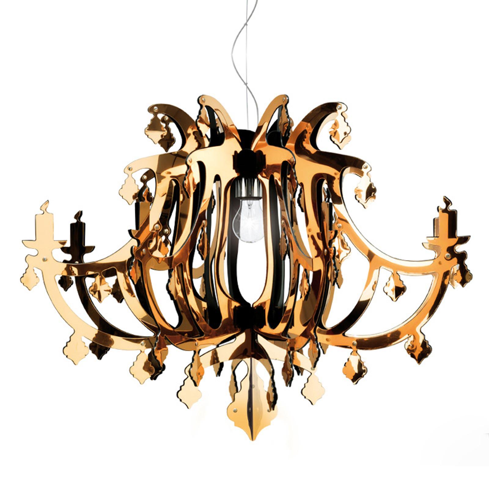 Kultainen design-riippuvalaisin Ginetta