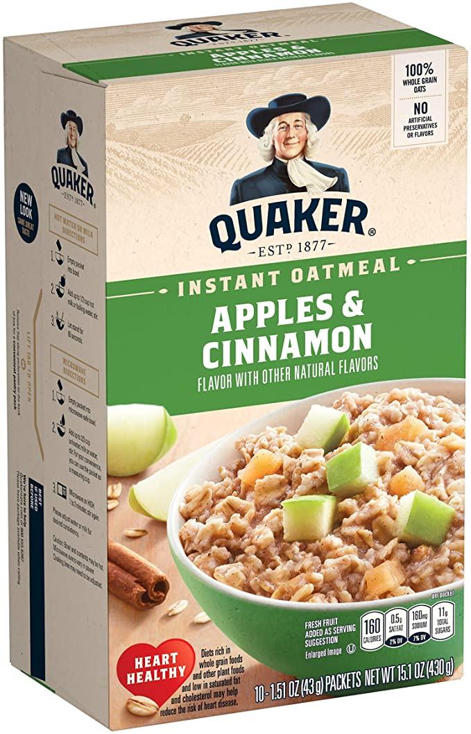 Quaker Instant Oatmeal Apples & Cinnamon 430g