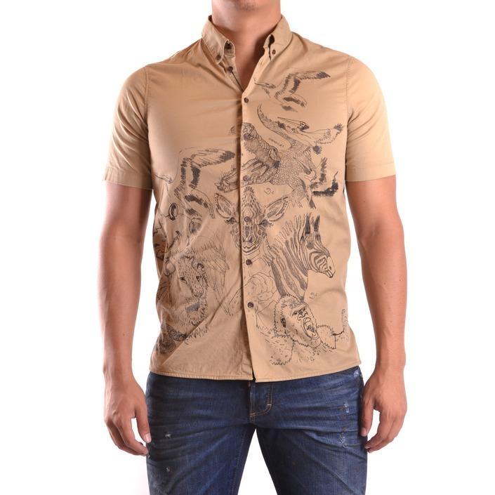 Dsquared Men's Shirt Beige 161776 - beige 44