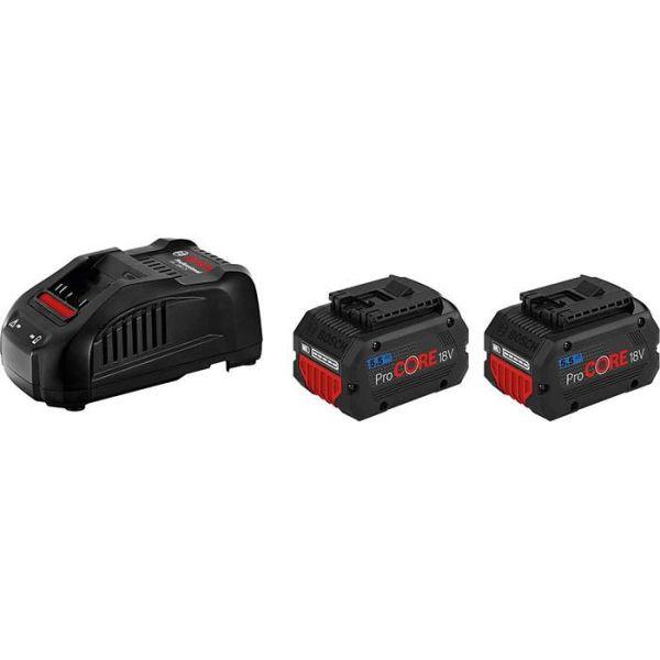 Bosch ProCORE 18V 5,5 AH Ladepakke 2 x 5,5 Ah, med lader