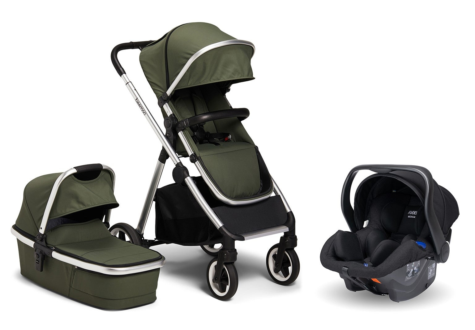 Beemoo Pro Duo Duovagn Inkl. Axkid Modukid Infant Babyskydd, Green