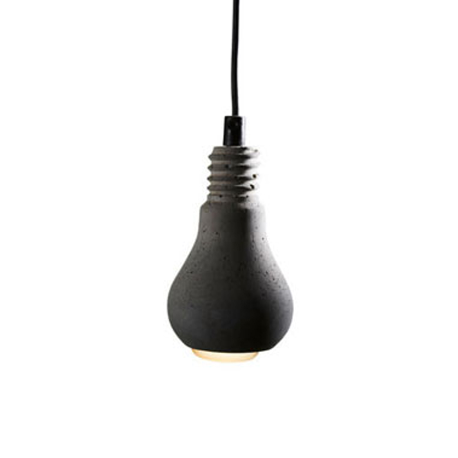 Edison betong svart textil sladd, Tove Adman