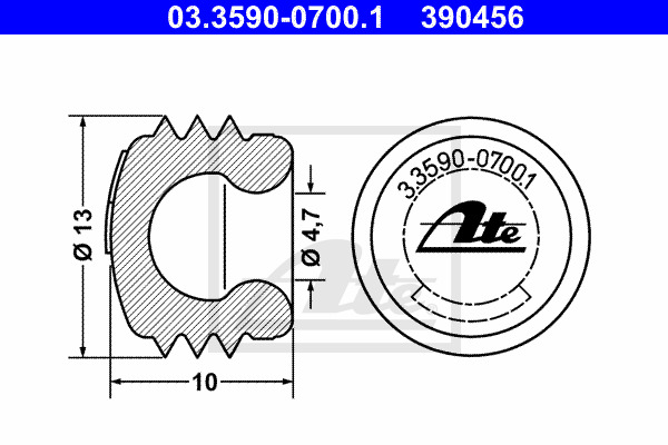 Korkki / kansi ATE 03.3590-0700.1