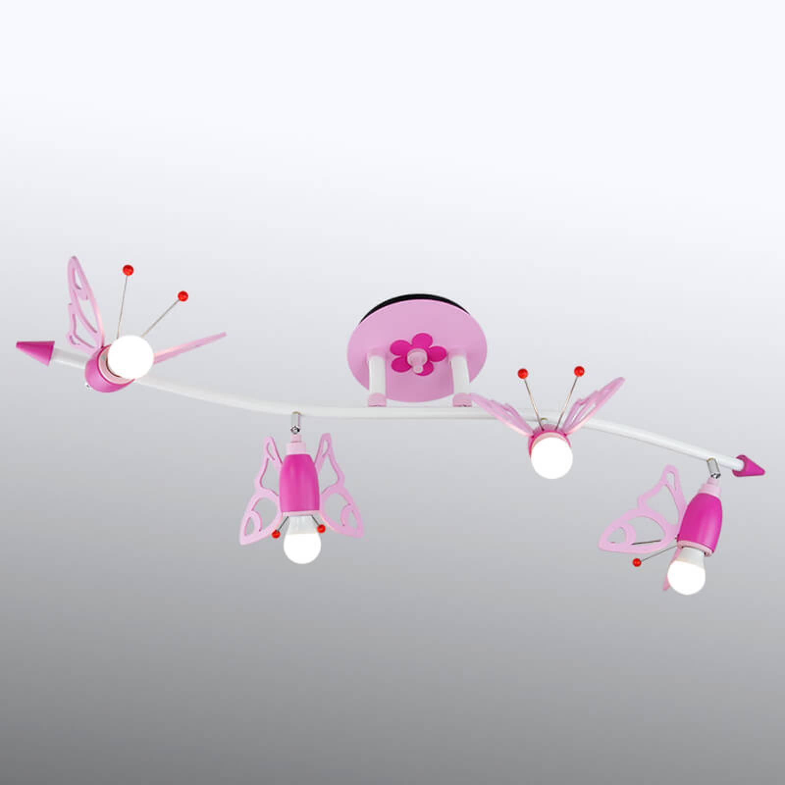 Takspot Falter til barnerommet, 4 lyskilder