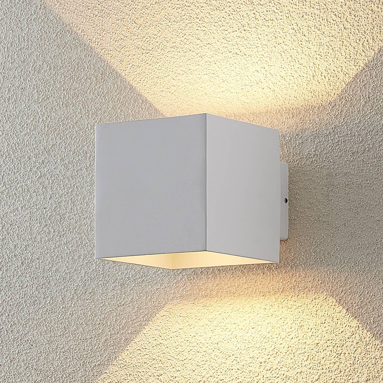 ELC Esani utendørs LED-utevegglampe, hvit