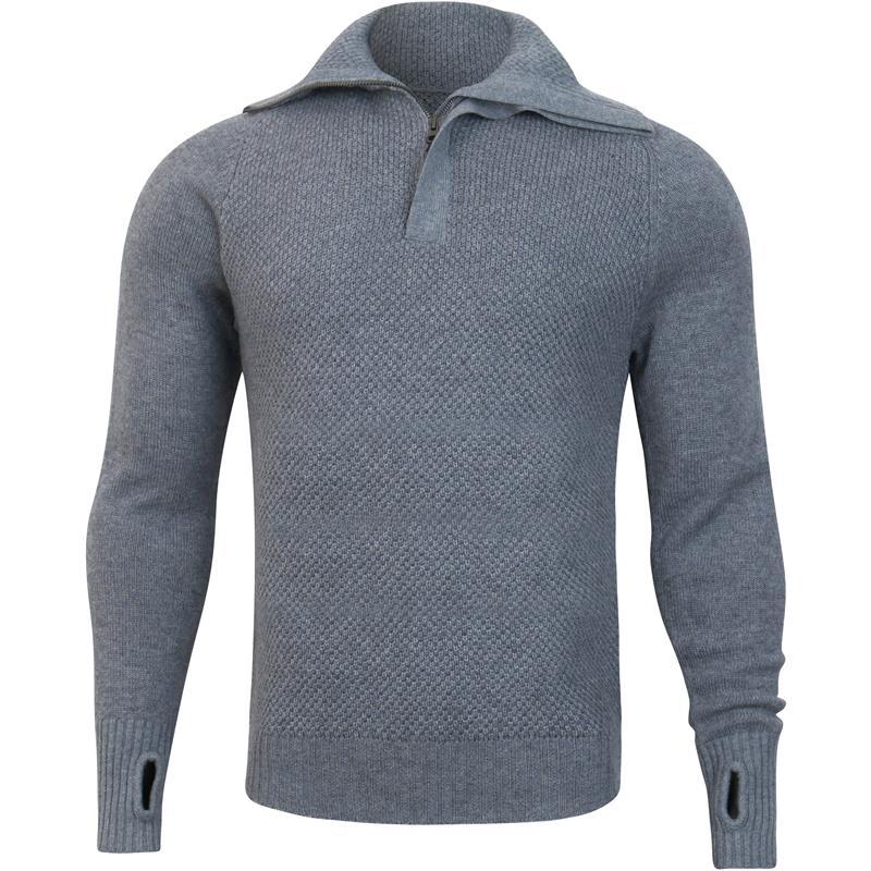 Tufte Bambull Blend Half-Zip Sweater XL Genser, unisex, Grey Melange