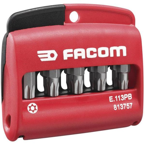 Facom E.113PB Bitssett i etui 10 stk., ResisTorx