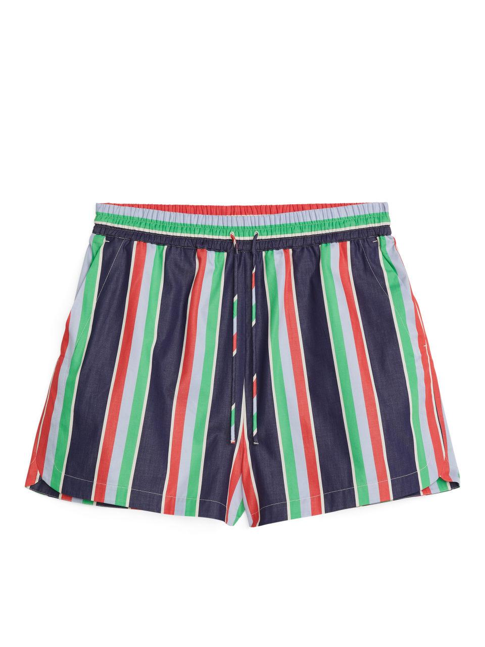 Cotton Poplin Shorts - Blue