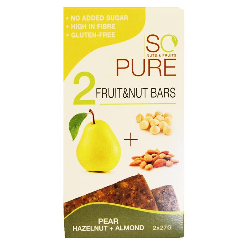 "Fruktbars ""Pear, Hazelnut & Almond"" 2 x 27g - 86% rabatt"