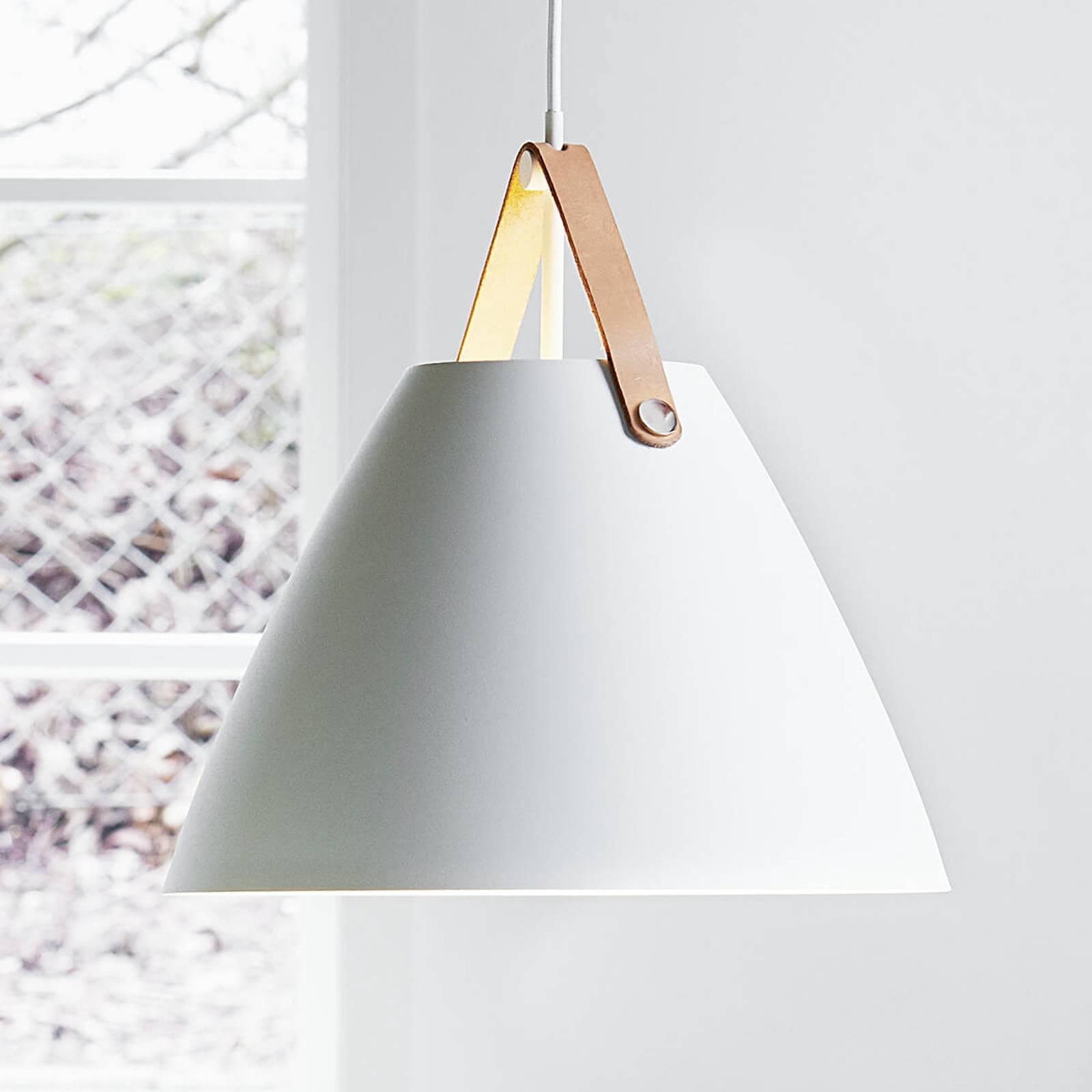 Nahkaripustimilla – LED-riippuvalaisin Strap 36