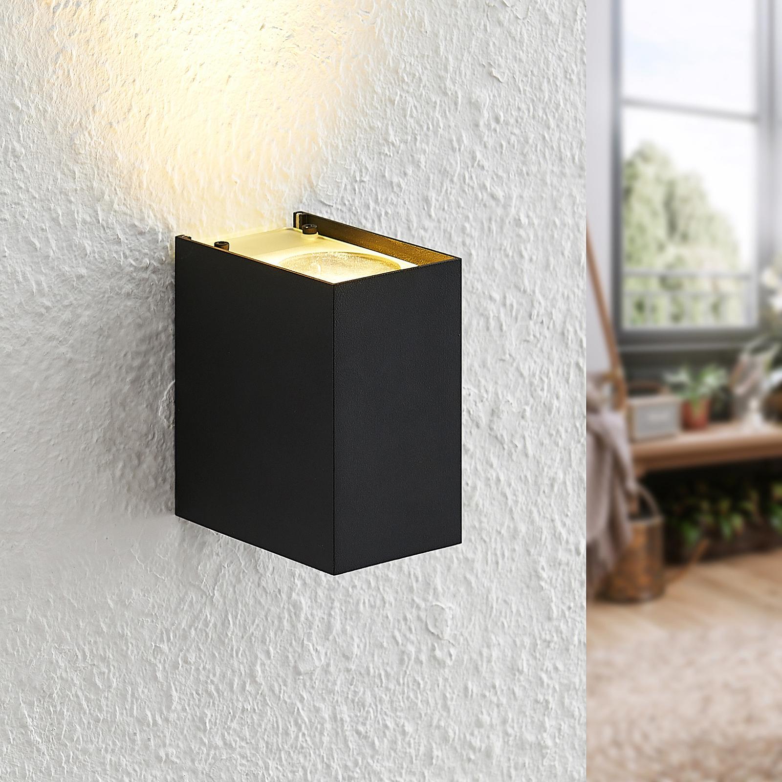 Arcchio Maruba -seinävalaisin, 1-lamppuinen, musta