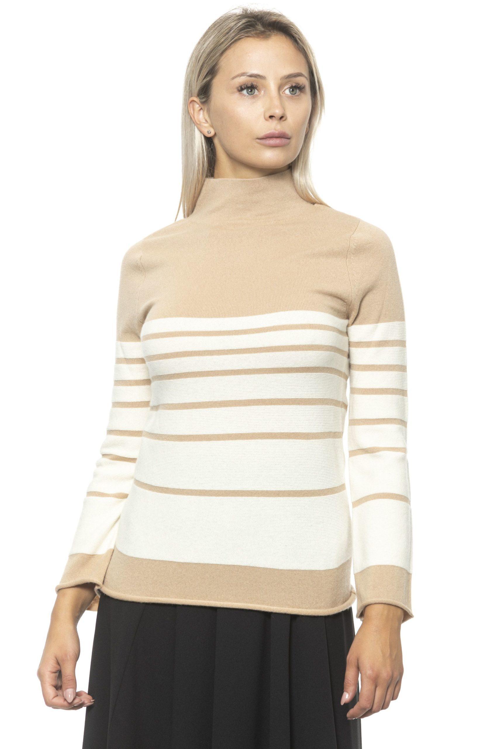 Alpha Studio Women's V A R. U N I C A Sweater Beige AL1313067 - IT40 | XS