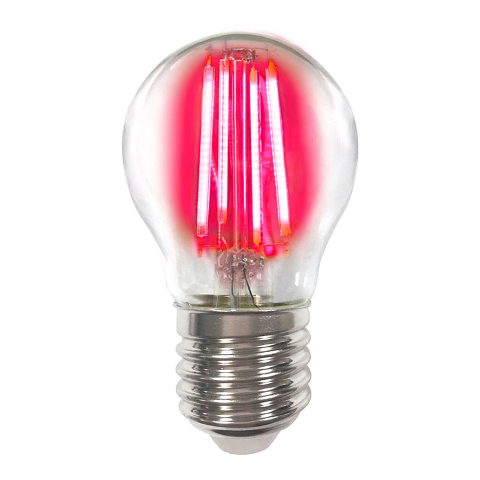 Värillinen E27 4W -LED-lamppu filament, punainen