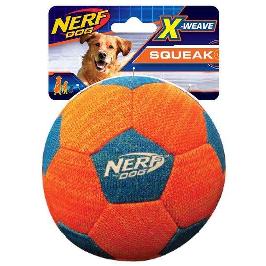 NERF Dog Foam X-weave Squeak Fotboll Orange Blå