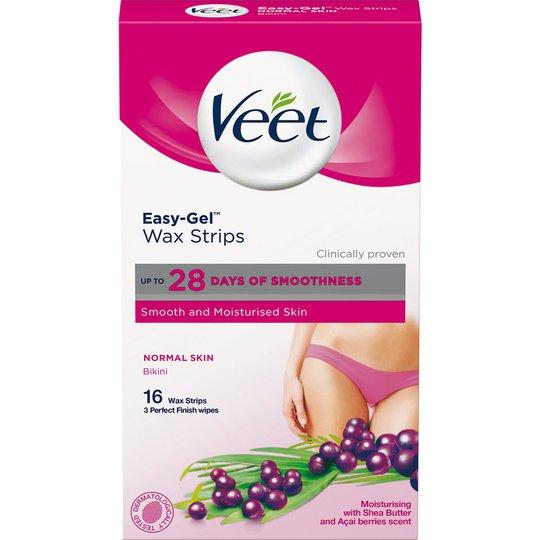 Veet Ready-to-Use Wax Strips for Bikini & Underarm, Veet Kasvojen ihokarvat