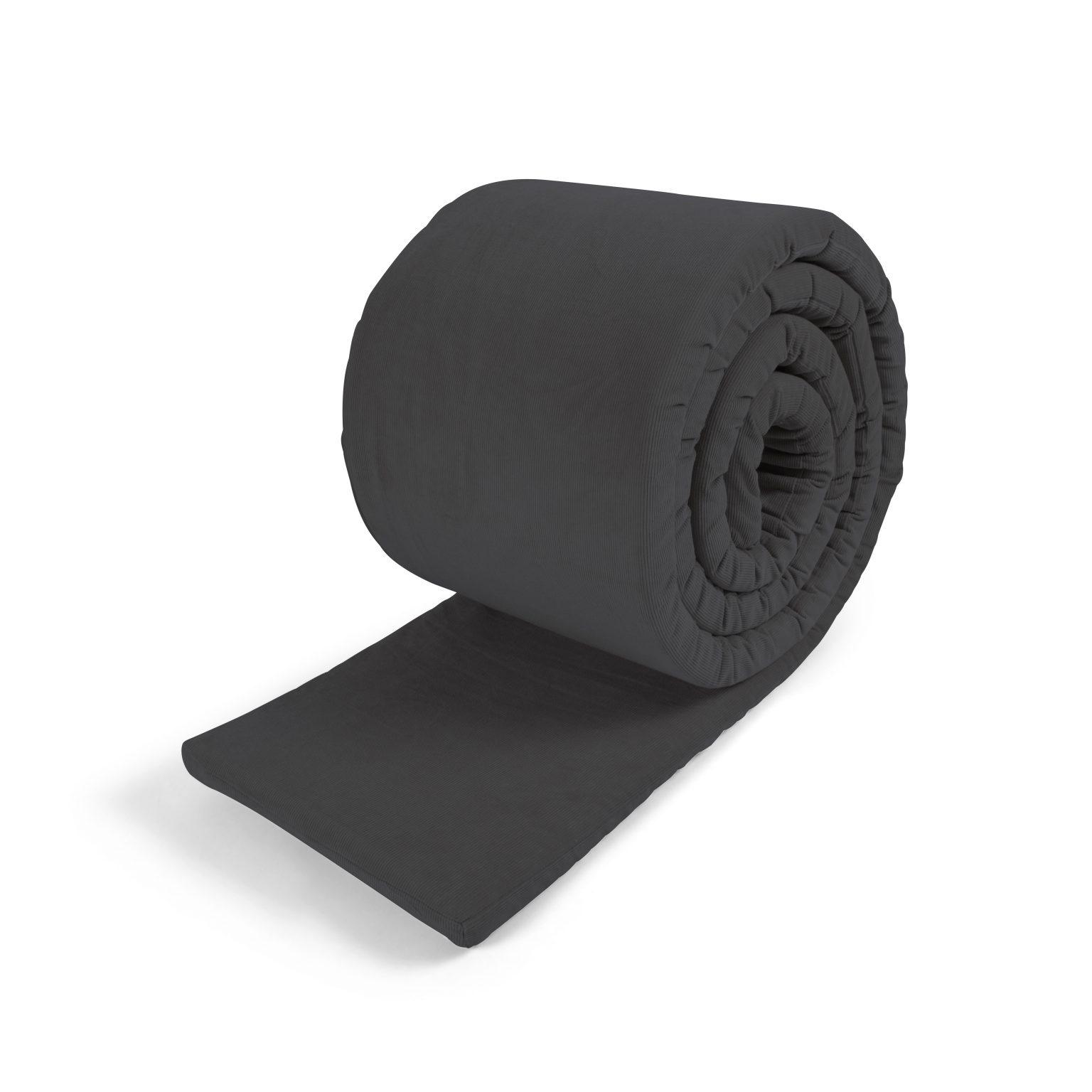 Filibabba - Bed bumper - GOTS Organic - Corduroy Stone grey
