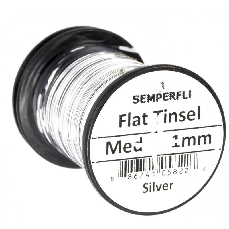 Semperfli Flat Tinsel Silver Medium