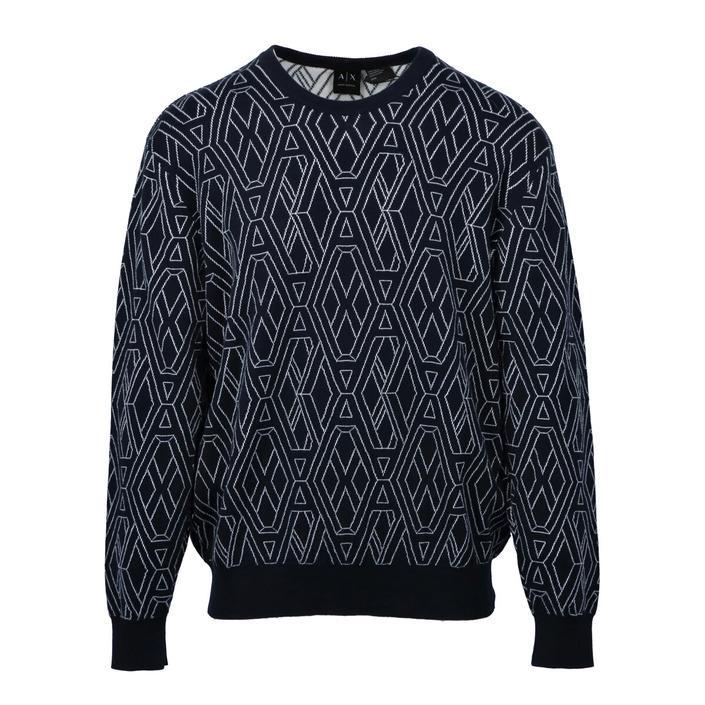 Armani Exchange Men's Sweater Blue 271603 - blue L