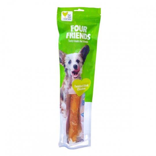 FourFriends Dog Twisted Stick Chicken 40 cm