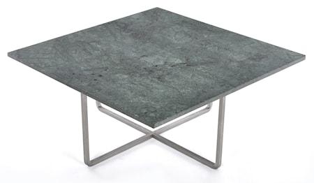 Ninety 80x80 soffbord - Grön indio/stomme rostfritt stål
