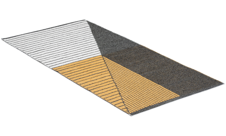 Stripe gul - plastteppe