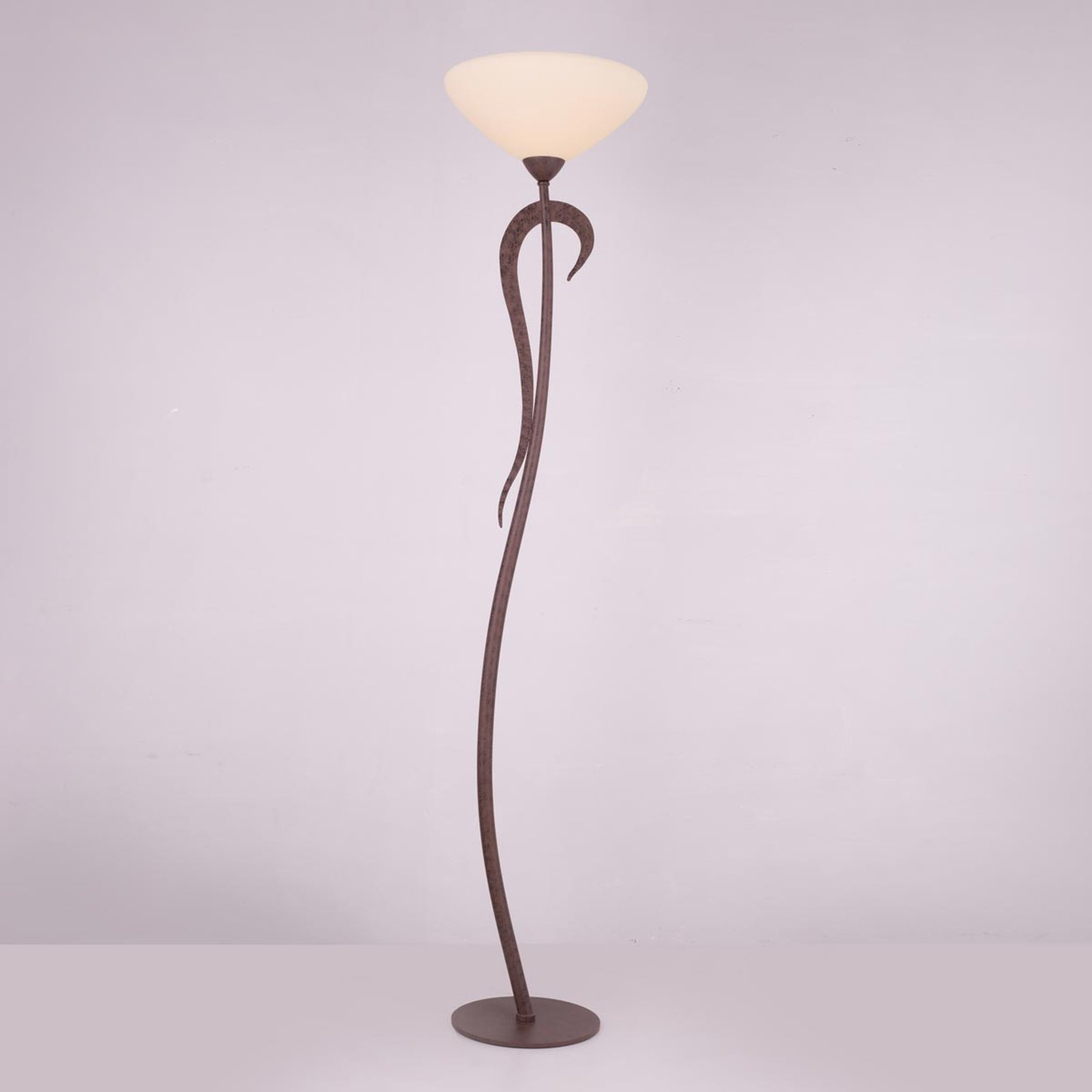 Uplight-lampe Samuele i landlig stil, krem