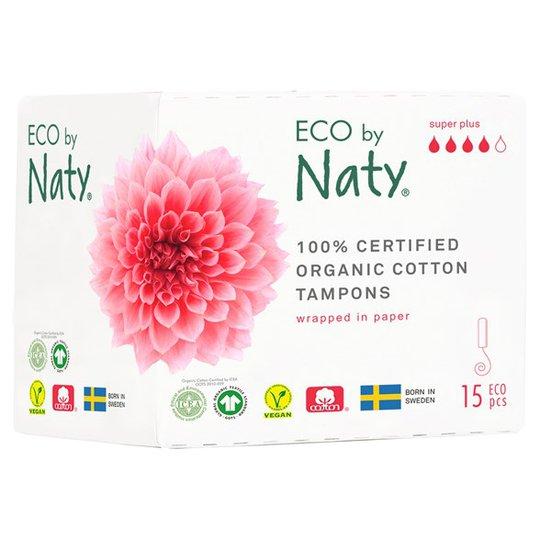 Naty Ekologiska Tamponger super plus, 15 st