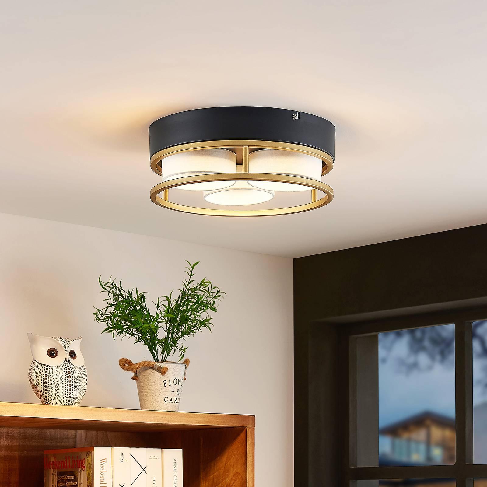 Lindby Bymera -LED-kattovalaisin, pyöreä