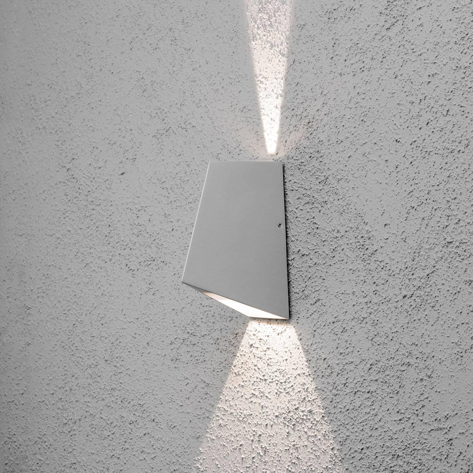 Imola utendørs LED-vegglampe, 2 lyskilder