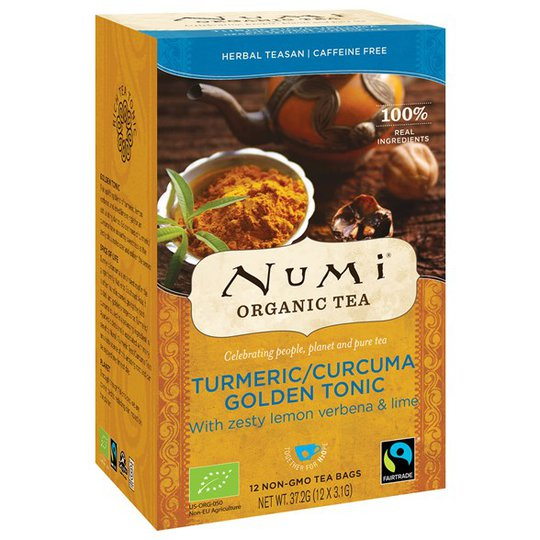 Numi Organic Tea Turmeric Golden Tonic, 12 påsar