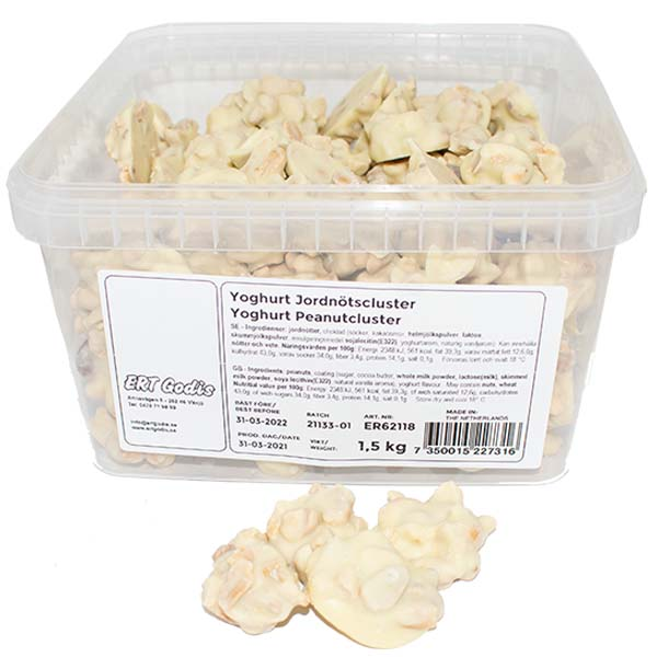 Yoghurt Jordnötscluster - 1.5 kg