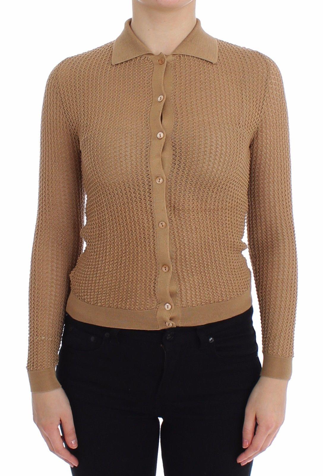Dolce & Gabbana Women's Knitted Cotton Cardigan Beige SIG13249 - IT36   XS