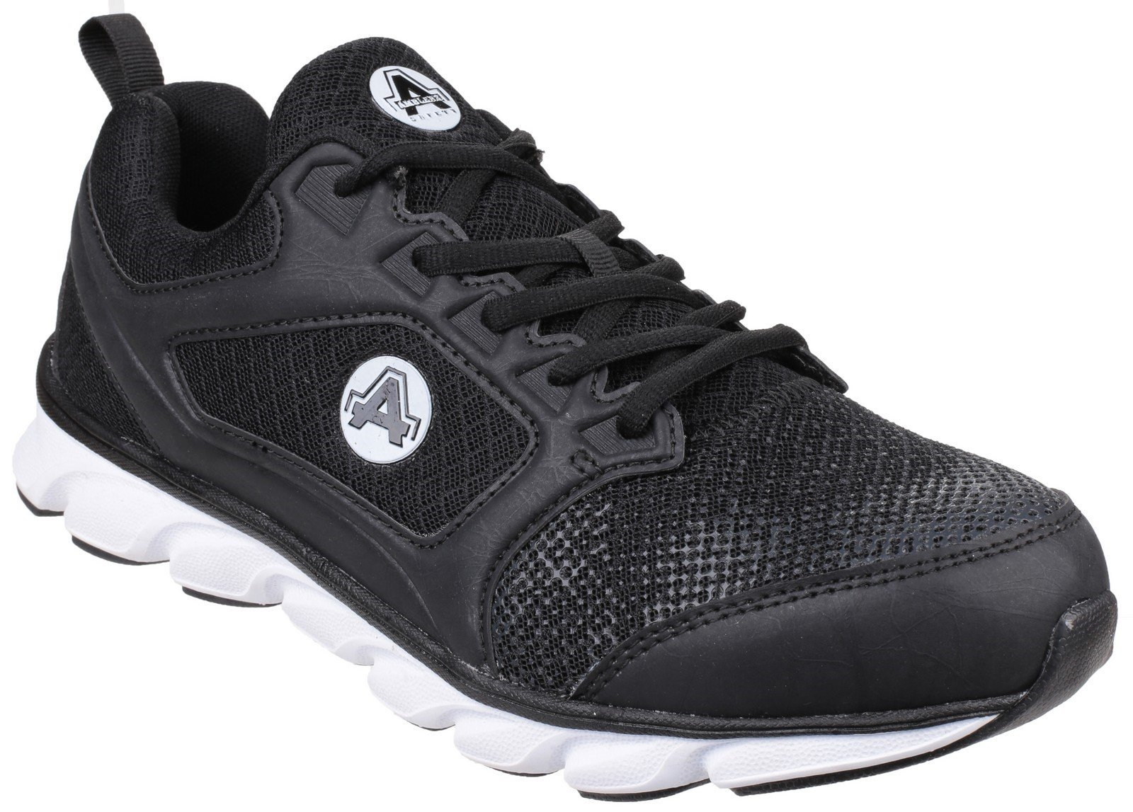 Amblers Unisex Safety Lightweight Non Leather Trainer Various CO - Black 6