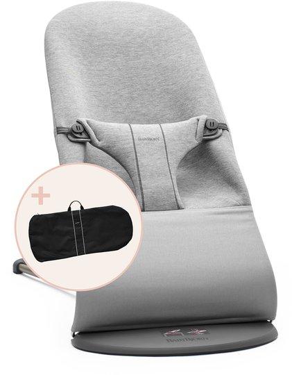 BabyBjörn Bliss Babysitter 3D Jersey inkl. Transportveske, Lysegrå