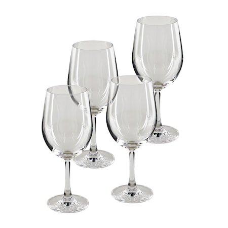 Pure & Simple Rødvinsglass 4-pakning Klar