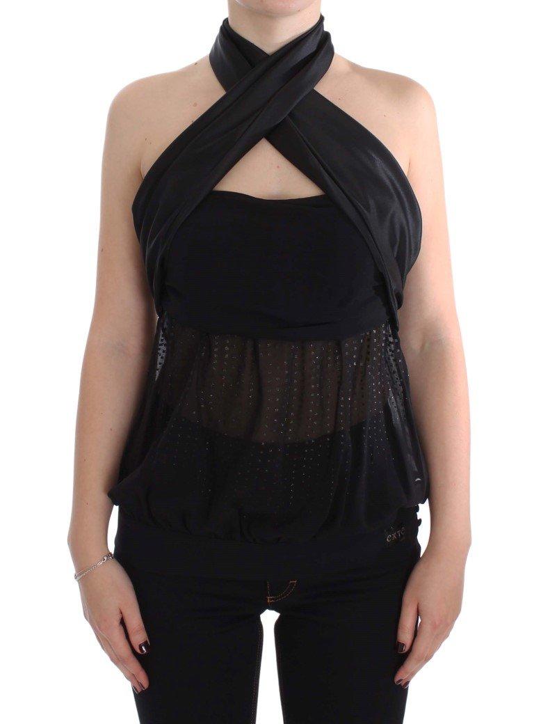 Exte Women's Neck Wrap Top Black SIG30856 - IT44|L